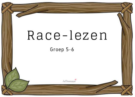 Hedendaags Race-lezen – Juf Dominique IW-78